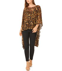 chaus leopard print high-low tunic top in brown at nordstrom