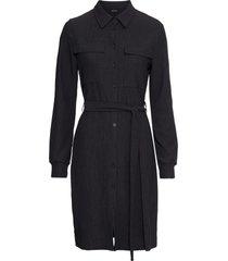 abito chemisier con cintura (nero) - bodyflirt