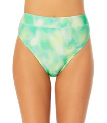 california waves juniors' tie-dye high-waist bikini bottoms women's swimsuit