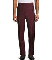 versace men's flat-front wool & mohair dress pants - red - size 58 (42)