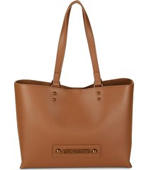 love moschino women's logo tote - black