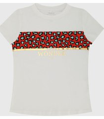 camiseta blanca-multicolor name it