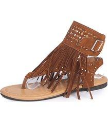 sandalias de flecos para mujeres de gran tamaño con flecos 2019 ox