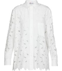 red valentino cotton blend carved shirt