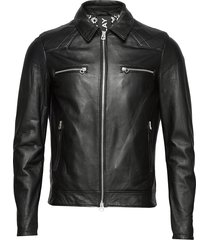leather jacket leren jack leren jas zwart replay