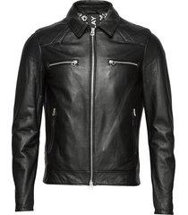 leather jacket leren jack leren jas zwart replay