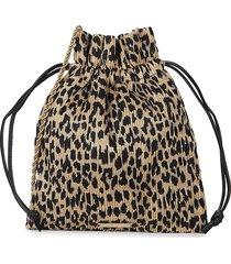 loeffler randall women's sibyl drawstring pouch - leopard