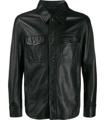 ami paris button-front jacket - black