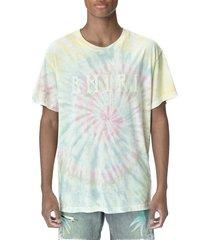 amiri pastel tie dye crewneck t-shirt