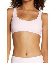 frankies bikinis connor bikini top, size large in love pink at nordstrom