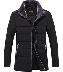 chaqueta casual hombre lana alta calidad acolchada 1719 negro