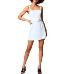 french connection belted straight neck whisper dress
