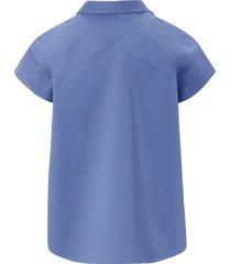 blouse met kwartlange mouwtjes van bogner blauw