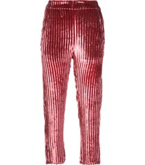 ann demeulemeester cropped corduroy trousers - pink
