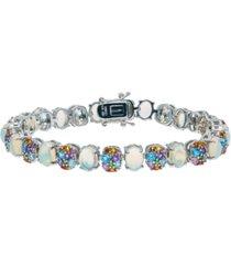 gemstone tennis bracelet in sterling silver