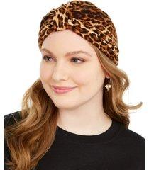 steve madden leopard print turban