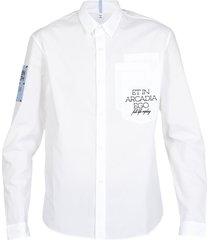 mcq alexander mcqueen eden high: cotton multipocket shirt