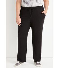 maurices plus size womens lakeside black super soft wide leg pants
