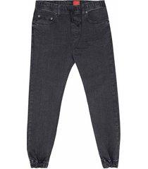 jogger en jean, cintura elástica en lavado de moda para joven 00580