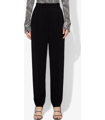 proenza schouler crepe pleated tapered pants black 4