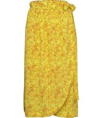 rodebjer gilot budding skirts wrap skirts gul rodebjer