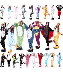 adult unisex flannel kangaroo animal onesiez pajamas cosplay costume sleepwear :
