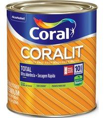 tinta coral esmalte coralit total, tabaco, galão