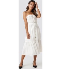 trendyol carmen button midi dress - white