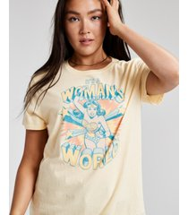 junk food cotton women's world-graphic t-shirt