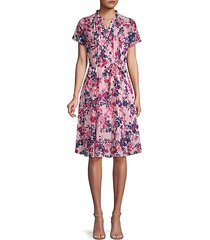 floral-print pintuck dress