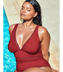 icon milan non wired curve plunge ladder shaping one-piece swimsuit