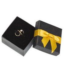anel feminino ouro 18k banhado regulável duas pontes dourado