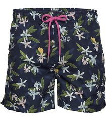 lemon flowers swim shorts cf badshorts blå gant