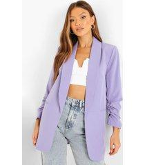 getailleerde blazer met geplooide mouwen, lilac