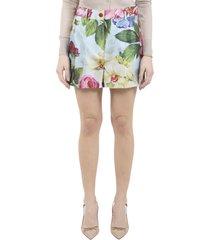 dolce & gabbana blue floral shorts