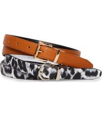 steve madden women's 2-for-1 reversible belt