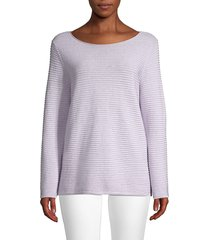 eileen fisher women's ribbed organic linen & cotton top - white - size xxs