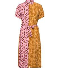 nuballon dress knälång klänning orange nümph
