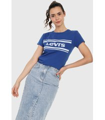 camiseta azul royal-blanco levis