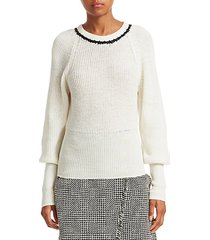 ingrid wool balloon sleeve sweater