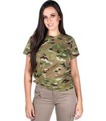 camiseta treme terra soldier multicam verde