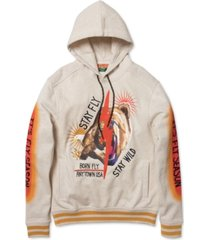 born fly men's big & tall graphic hoodie