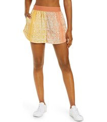 women's free people fp movement see you sunday print shorts, size x-small - orange