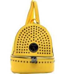 mochila amarilla buda