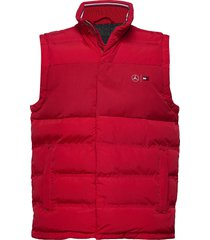 2 mb mixed media vest vest rood tommy hilfiger