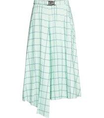 2nd phaedra check knälång kjol grön 2ndday
