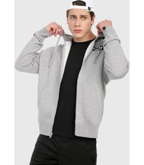chaqueta gris-negro-blanco nike fz flc bstr
