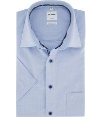 korte mouwen overhemd olymp blauw comfort fit