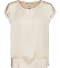 sc-thilde blouses short-sleeved creme soyaconcept