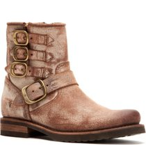 frye veronica belted short booties women's shoes